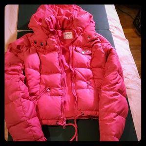 Hollister hot pink bomber jacket